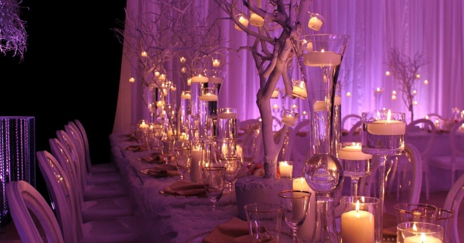 Wedding reception centerpieces with candles gallery wedding wedding hanging mini chandelier candle centerpieces chandelier aloadofball Images